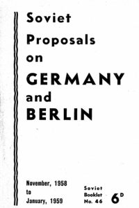 1959_Soviet Proposals on Germany and Berlin_Soviet Government