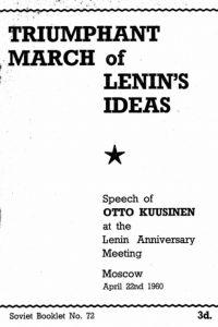 1960_Triumphant March of Lenin's Ideas_Otto Kuusinen