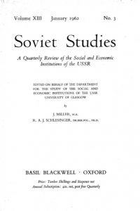 1962_Soviet Studies_Volume_XIII_No_3_J_Miller