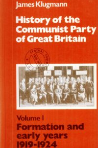 1969_History of the CPGB_V_1_James Klugmann