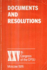 1976_Documents & Resolutions_25th Congress_CPSU_1
