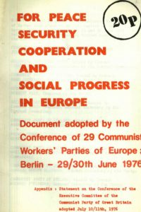 1976_For Peace_Security_Cooperation and Social Progress in Europe