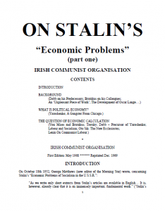on stalin's economic problems