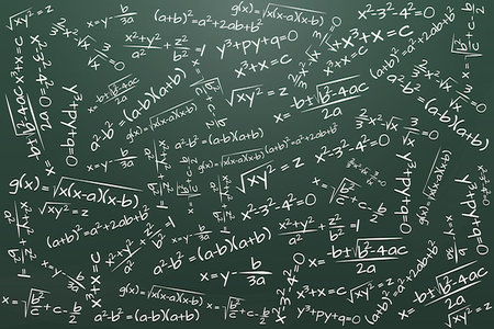 illustration of chalkboard with math formula